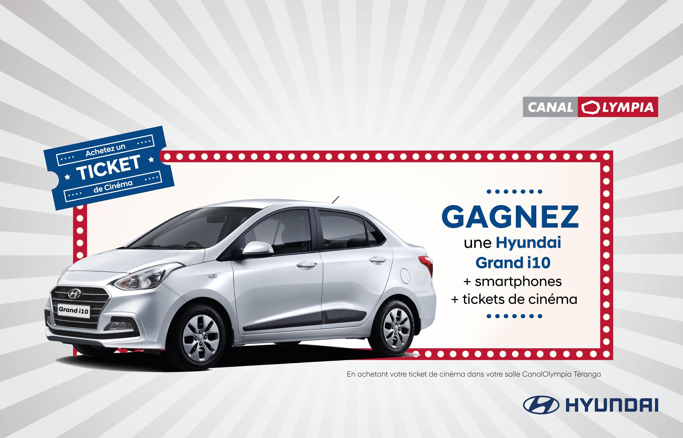 Gagnez une Hyundai Grand i10 avec Canal Olympia